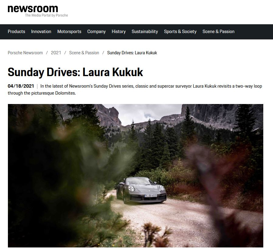 Sunday Drives: Laura Kukuk und die Dolomiten